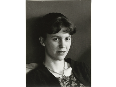This vintage print of Sylvia Plath was taken in 1959 at her 9 Willow Street apartment in Boston.