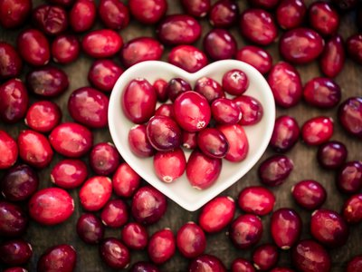 Add some color to your table with fresh cranberries.