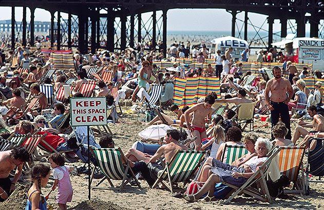 Blackpool England beach