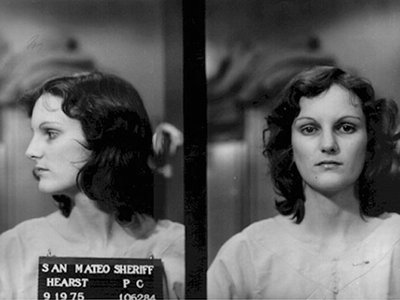 Convicted bank robber, Patty Hearst arrest photo