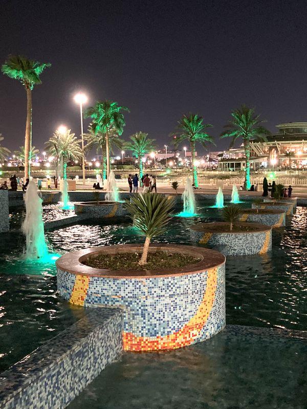 Corniche beauty at dark night - Al Khobar, Saudi Arabia thumbnail