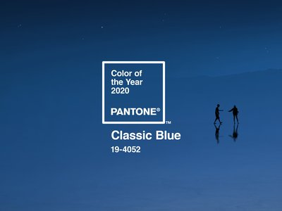"""Classic Blue is a deep shade """"suggestive of the sky at dusk,"""" """"solid and dependable,"""" and a """"restful color,"""" according to Pantone."""
