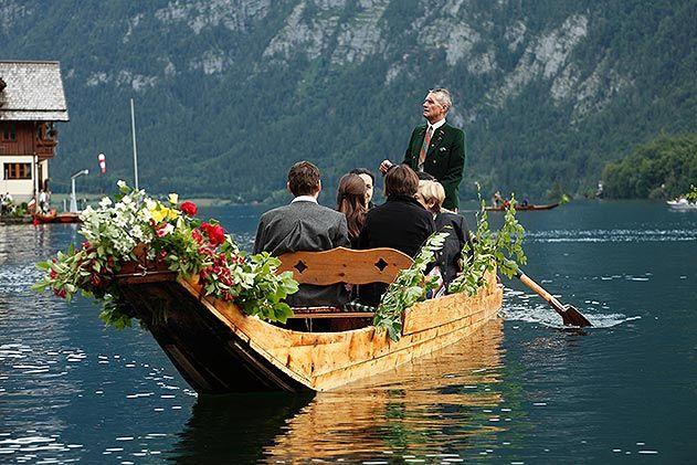 Plaette boat Hallstaetter See Lake
