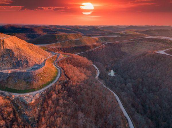 Mountain top removal, Hernshaw, West Virginia thumbnail