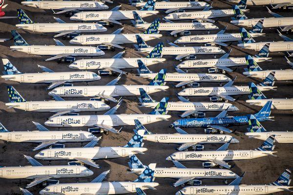 Stored Airplanes at Pinal Airpark in Arizona thumbnail