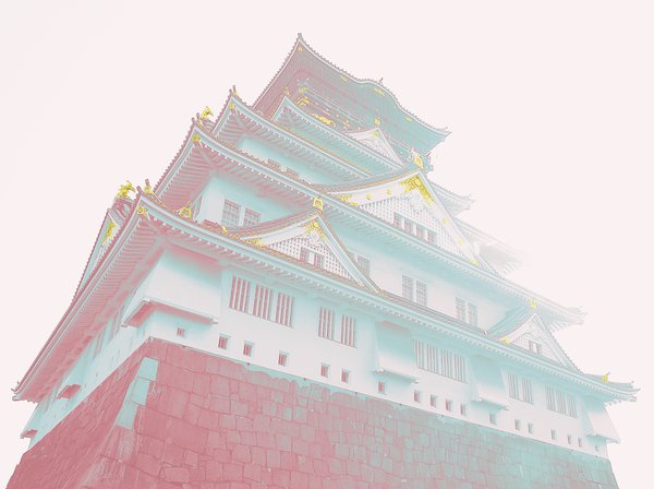 Osaka Castle that glitters in gold thumbnail