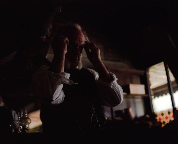 Teller in a Western bank. thumbnail