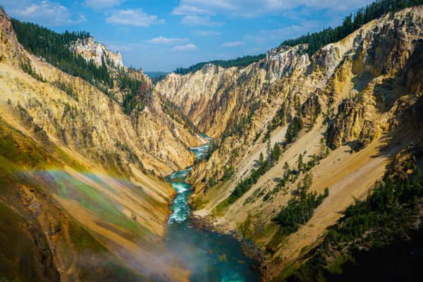 The Yellowstone River Flowing through the Yellowstone Grand Canyon thumbnail