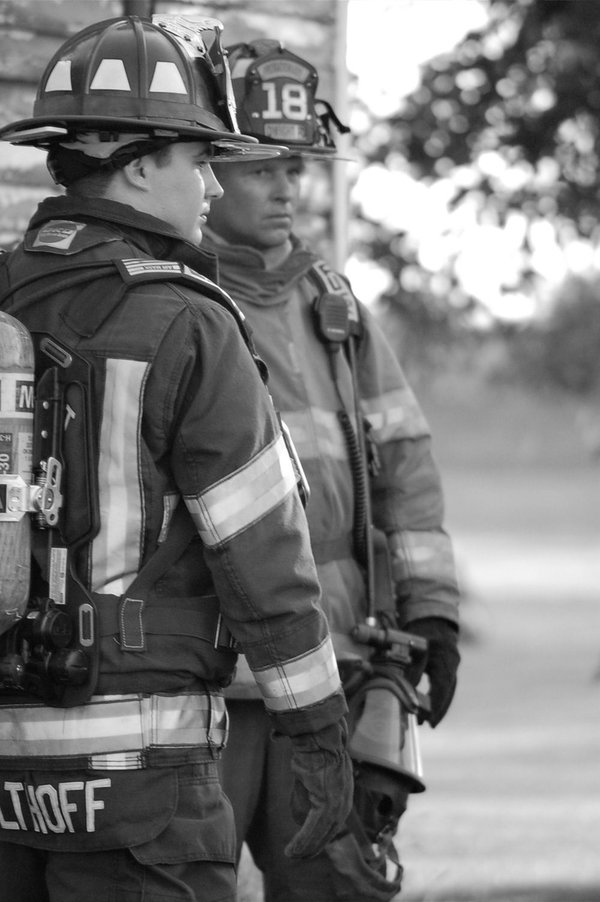 Father and Son. Picture of My Husband and Son on the Fire Department in Dwight IL. thumbnail