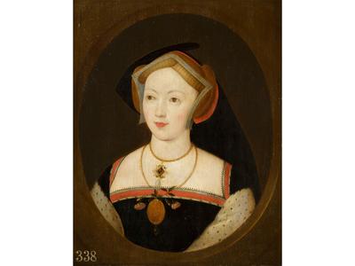 Researchers recently identified the unnamed sitter in this portrait as Mary Boleyn, older sister of Anne Boleyn.