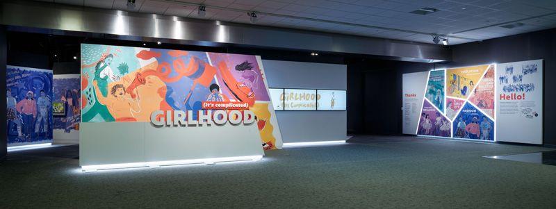 "Entrance of ""Girlhood"" exhibition"