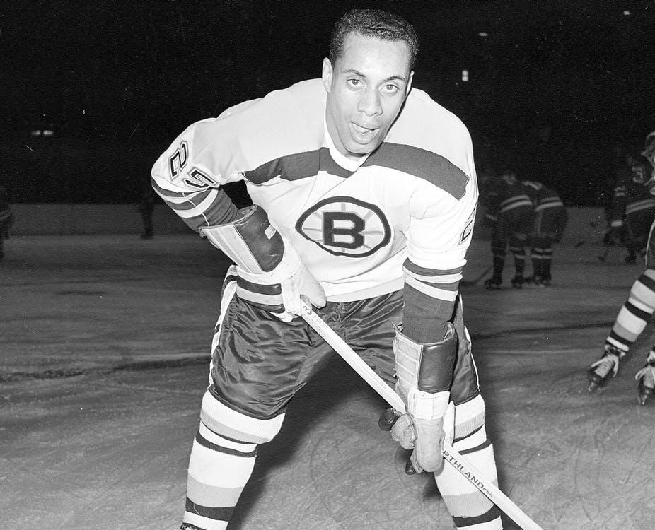 Boston Bruins forward Willie O'Ree