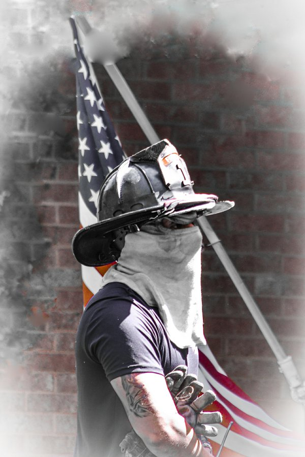 Patriotic Firefighter thumbnail