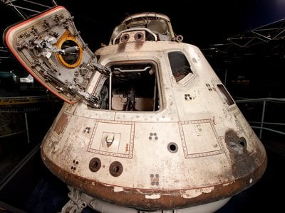 """""""Everyone involved accomplished many, many firsts with that flight,"""" says Smithsonian curator Teasel Muir-Harmony. of NASA's near-perfect mission, (above: Apollo 8 command module)."""