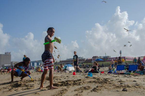 Shoveling Sand on the Beach thumbnail