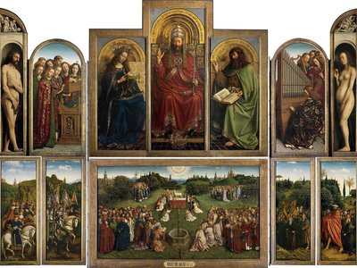 """During World war II, the original Monuments Men rescued more than five million works of art, including Jan and Hubert van Eyck's 1432 """"Ghent Altarpiece"""""""