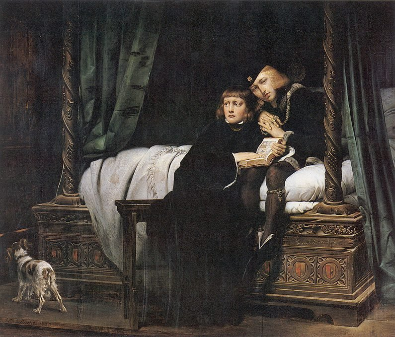 Paul Delaroche's 1831 depiction of the princes in the Tower