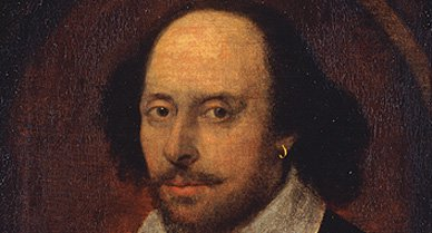 Of various portraits identified with Shakespeare, only the Chandos portrait (above) is believed painted from life