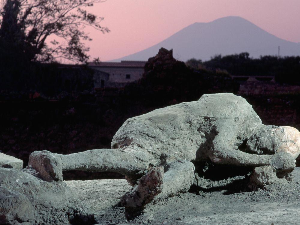 Body cast Pompeii