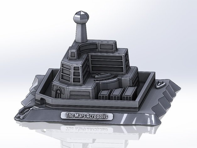 The Mars Acropolis took third prize in the design contest. Photo: Chris Starr, Thingverse