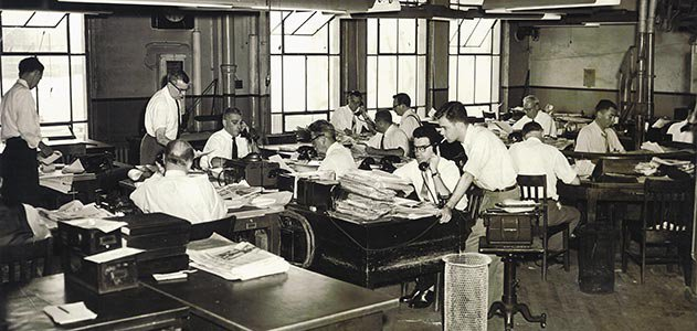 Journal American newsroom