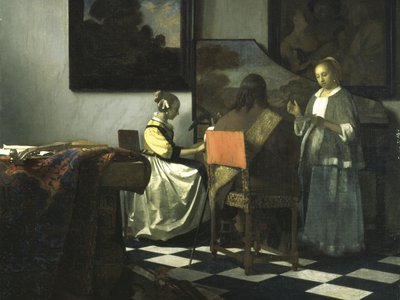 """Johannes Vermeer's """"The Concert"""" was one of the most valuable paintings stolen from the Gardener Museum"""