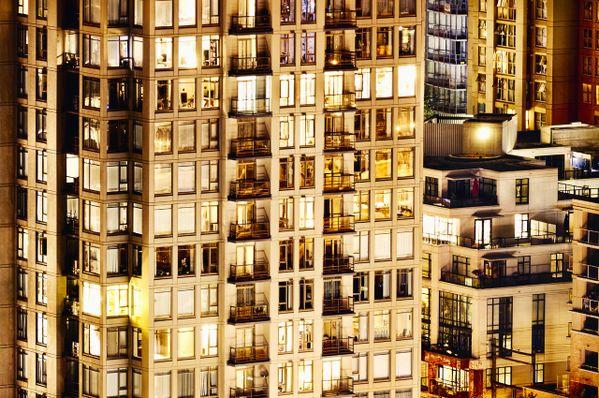 CDLXXIX / 0479 Voyeur Nocturne view of lush Condo living. thumbnail