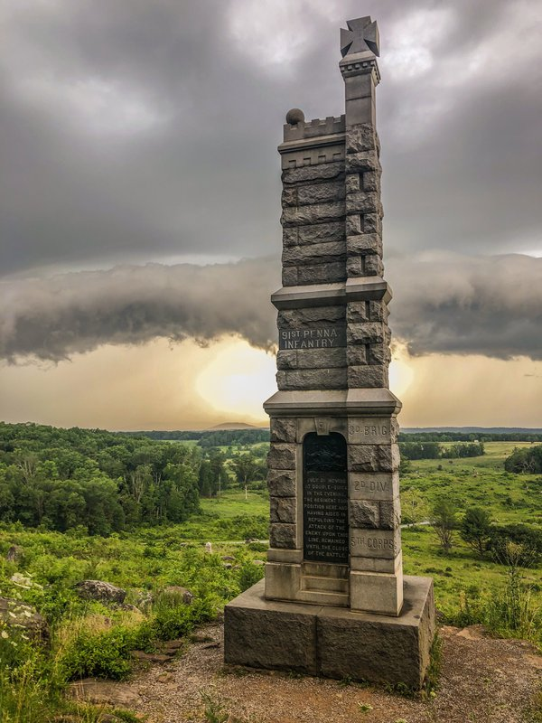 Storm Rolling In @ Little Round Top, Gettysburg Battlefield thumbnail