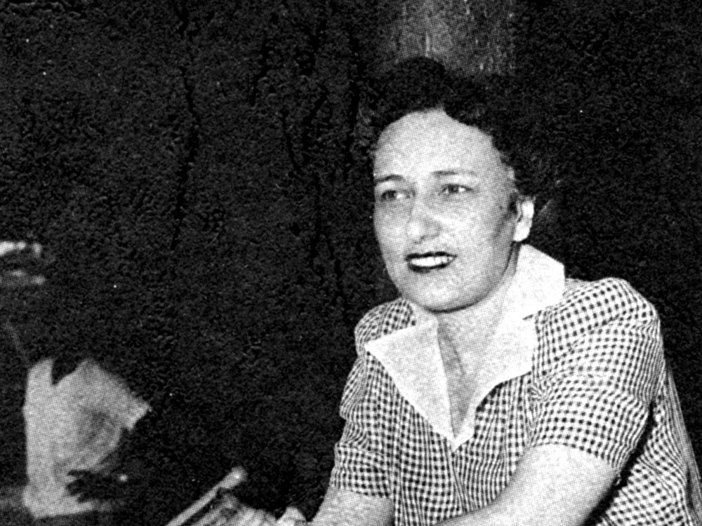 Effa Manley posing for a photograph in 1948