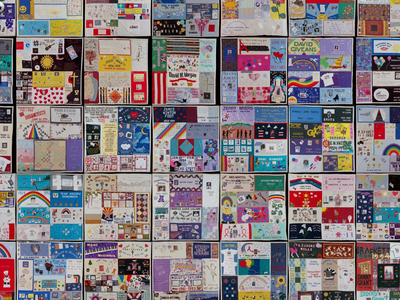 Users can zoom in on different sections of the quilt or search for specific panels by inputting names and keywords.