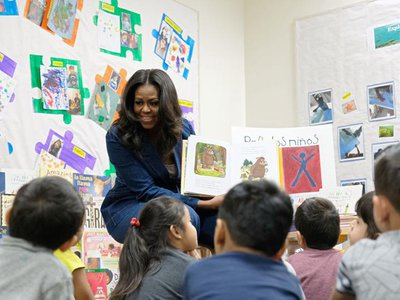 Former First Lady (and bestselling author) Michelle Obama has teamed up with PBS Kids and Penguin Random House for a live story time every Monday at noon.