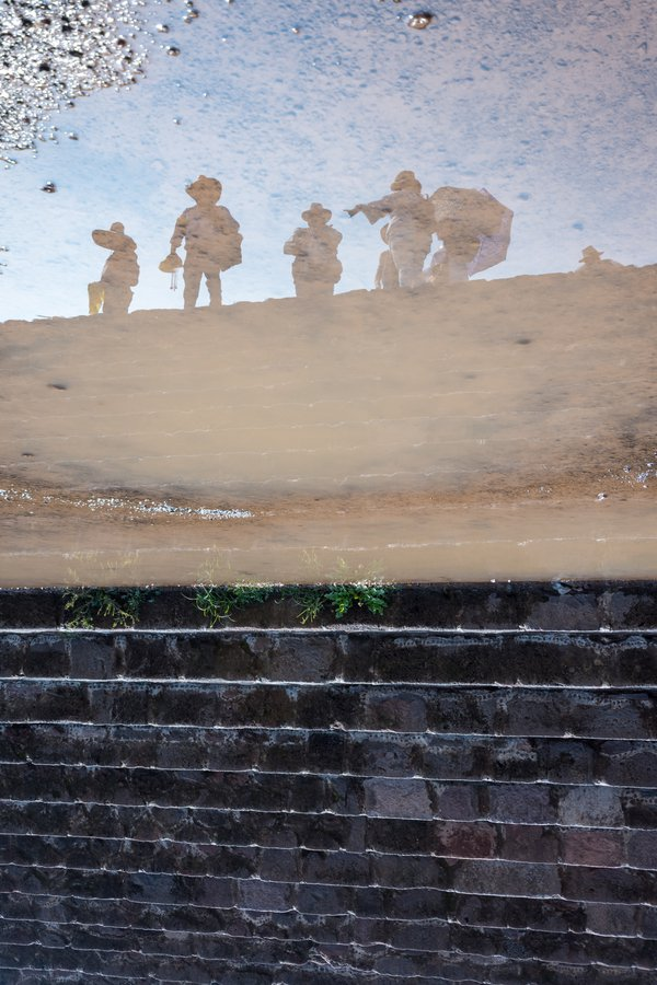 Steps and a reflection at the Teotihuacan pyramids outside of Mexico City. thumbnail