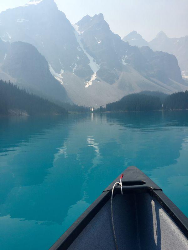 Canoeing on Moraine Lake thumbnail