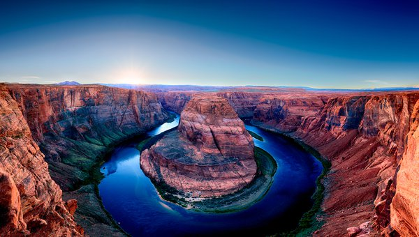 Horseshoe Bend Panorama, Page, Arizona thumbnail