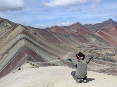 "Vinicunca, the ""Rainbow Mountain"" in Peru"