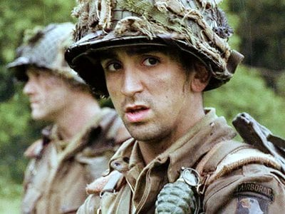 Actor James Madio played Easy Company T-4 Frank Perconte.