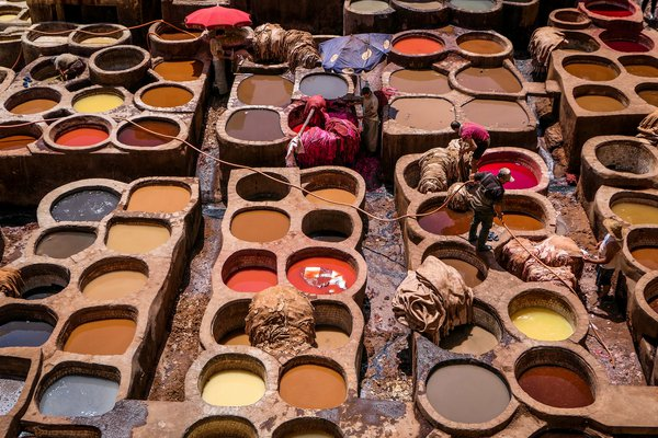 Leather Tanneries in Fez  thumbnail