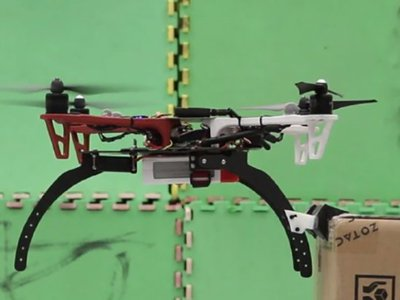 Specially-designed attachments make it possible for drones to balance on all kinds of surfaces.