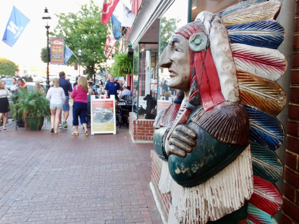 "An iconic statue of the dignified Native American on America's ""Main Street.""  thumbnail"