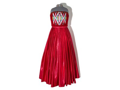 This dress, with a matching necklace and ruby red high heels, was worn by Cornell to her prom in 2018.