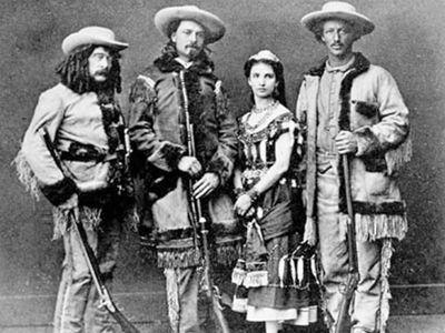 Ned Buntline, Bufalo Bill Cody, Giuseppina Morlacchi, Texas Jack Omohundro (1846-1880)