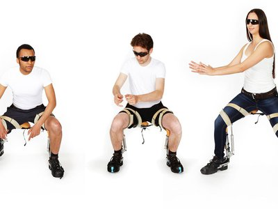 A 4.4-pound, leg-worn exoskeleton creates a chair out of nowhere.