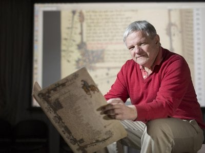 Researcher Peter Robinson led the team that developed the first app version of Geoffrey Chaucer's Canterbury Tales.