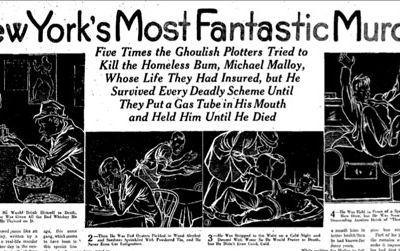 Headline from the San Antonio Light, November 12, 1933