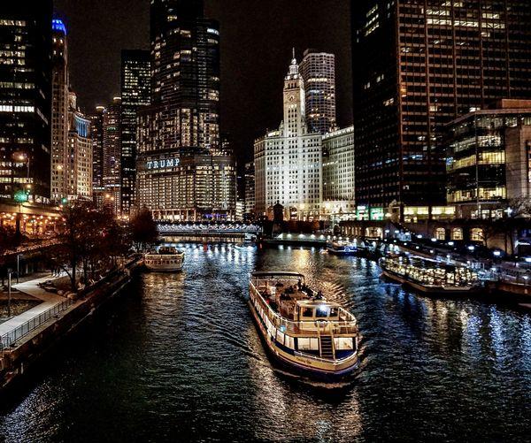 Chicago River at Night thumbnail