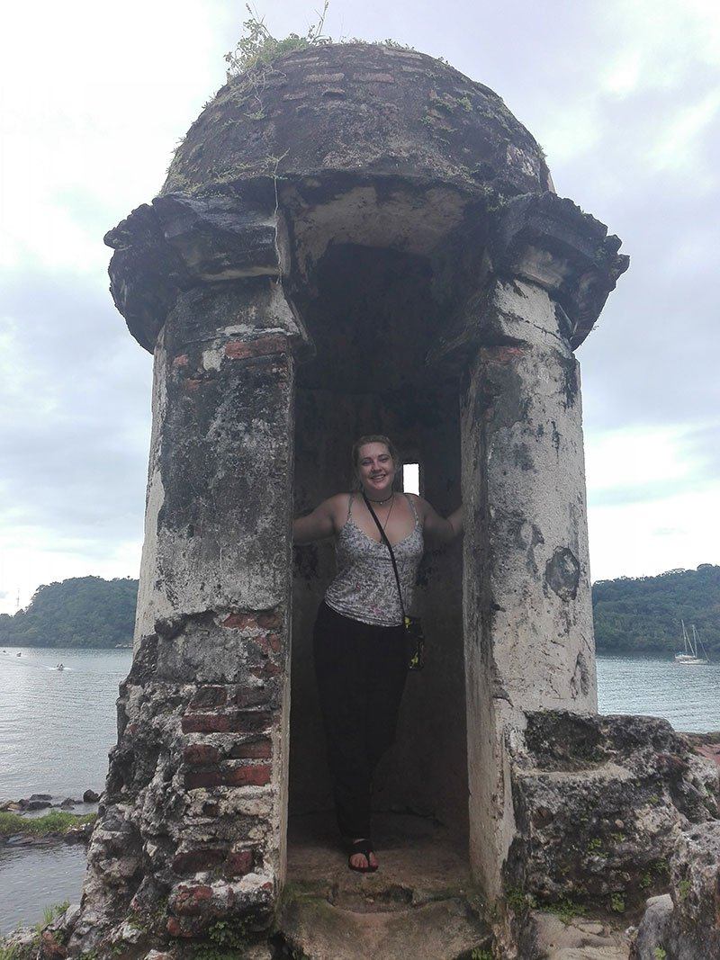 Katie Griswold in guard house