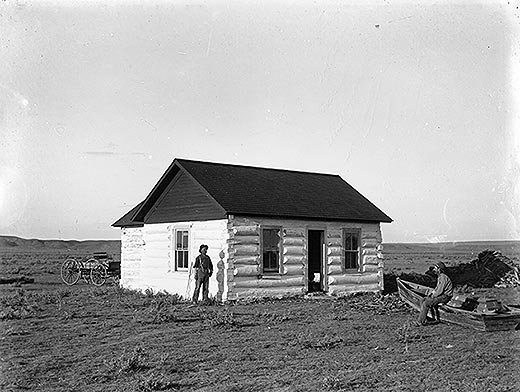 Jones shack along the Yellowstone