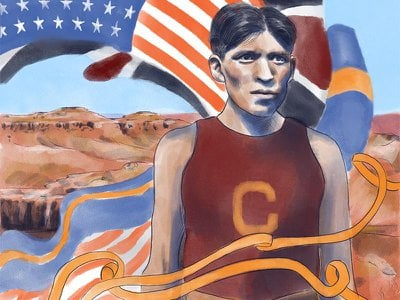 """Tsökahovi """"Louis"""" Tewanima became an Olympian while being forced to attend the Carlisle Indian Industrial School."""