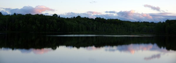 Panoramic Beauty at Dusk on the Lake thumbnail