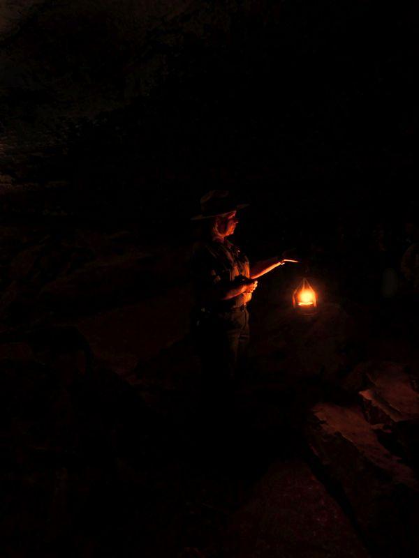 Ranger holding a lantern thumbnail